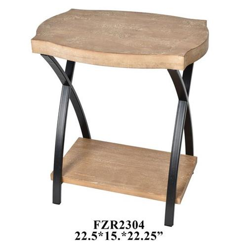 """22.5x15x25.25"""" WOODEN TABLE, 1/ PACK 1.89'"""