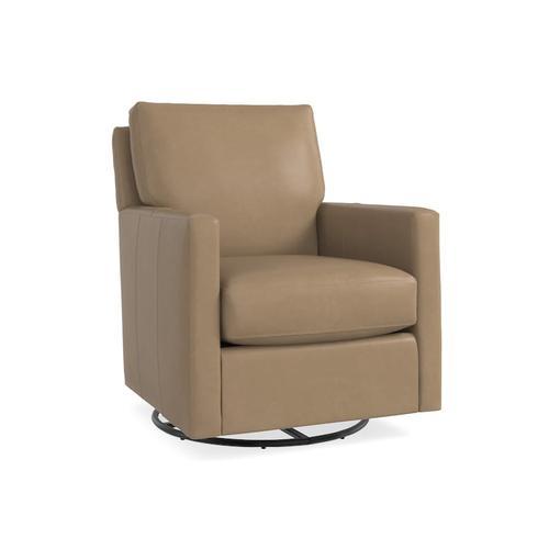 Bassett Furniture - Trent Leather Swivel Glider