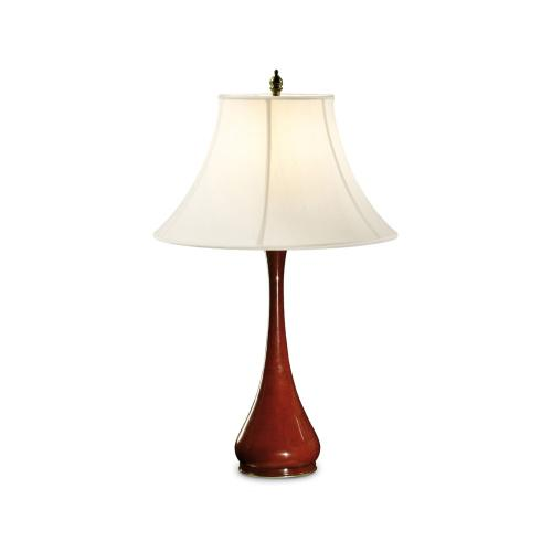 Red Lacquered Table Lamp