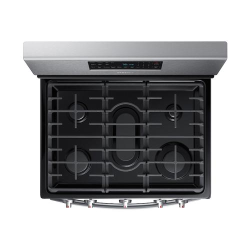 Samsung - 5.8 cu. ft. Freestanding Gas Range with Convection in Stainless Steel