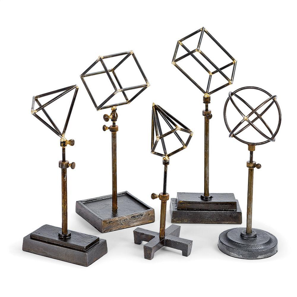 See Details - Geometrical Shapes On Stand (set of 5)