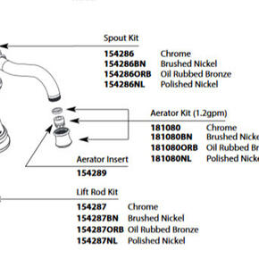 Weymouth Brushed Nickel Lift Rod Kit