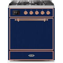 30 Inch Midnight Blue Dual Fuel Natural Gas Freestanding Range