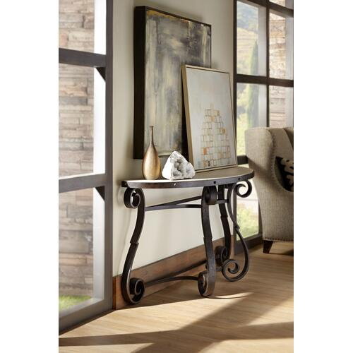 Product Image - Luckenbach Metal and Stone Demilune Console