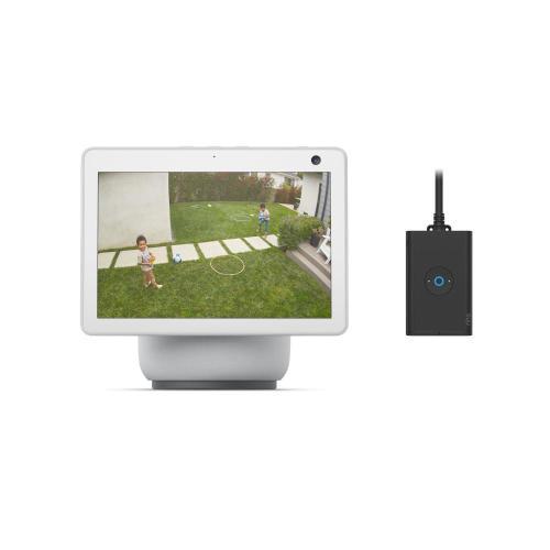 Ring - Echo Show 10 + Outdoor Smart Plug - White