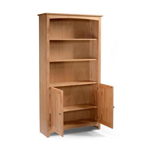 Gallery - Alder Bookcase 30 X 72 with Doors