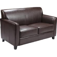 HERCULES Diplomat Series Brown LeatherSoft Loveseat