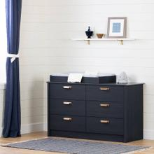 6-Drawer Changing Table - Blueberry