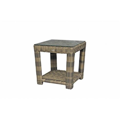 Princeville End Table Base w/Glass