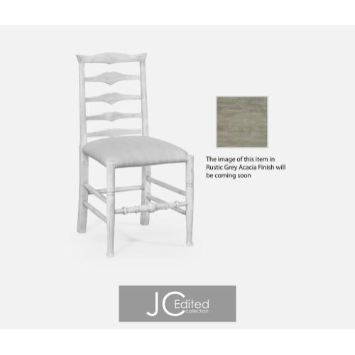 Rustic grey ladder back side chair