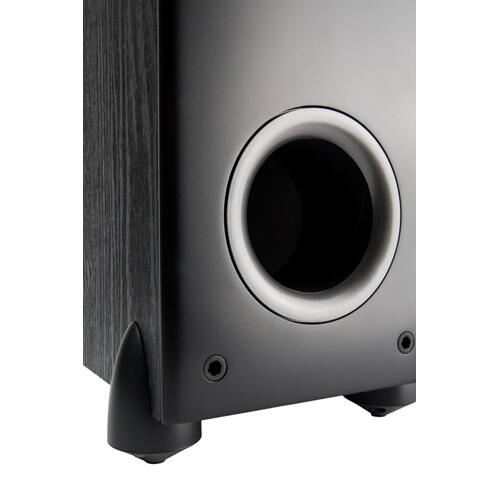 "Floorstanding Tower with three 5.25"" woofers and one 1"" tweeter in Black"