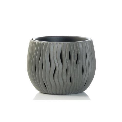 Sandy Bowl Planter- Grey SM