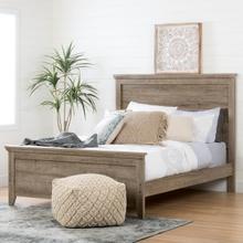 Lionel - Bed Set, Weathered Oak, Queen