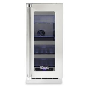 "Viking15""W. Stainless Steel Interior Undercounter Refrigerator - VURE Viking Professional Product Line"