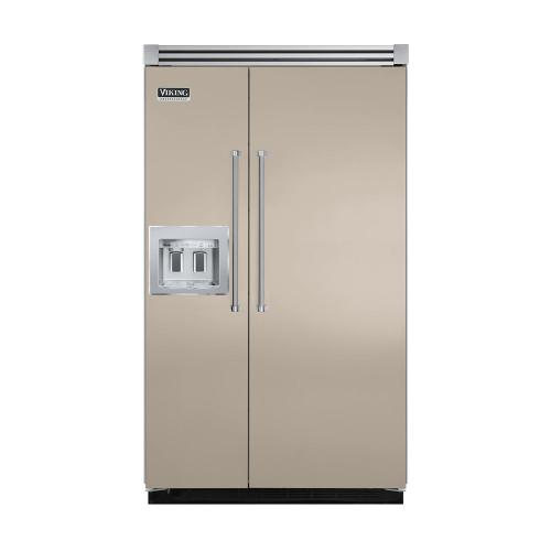 """Viking - Taupe 48"""" Quiet Cool™ Side-by-Side with dispenser - VISB Tru-Flush™ (48"""" wide)"""