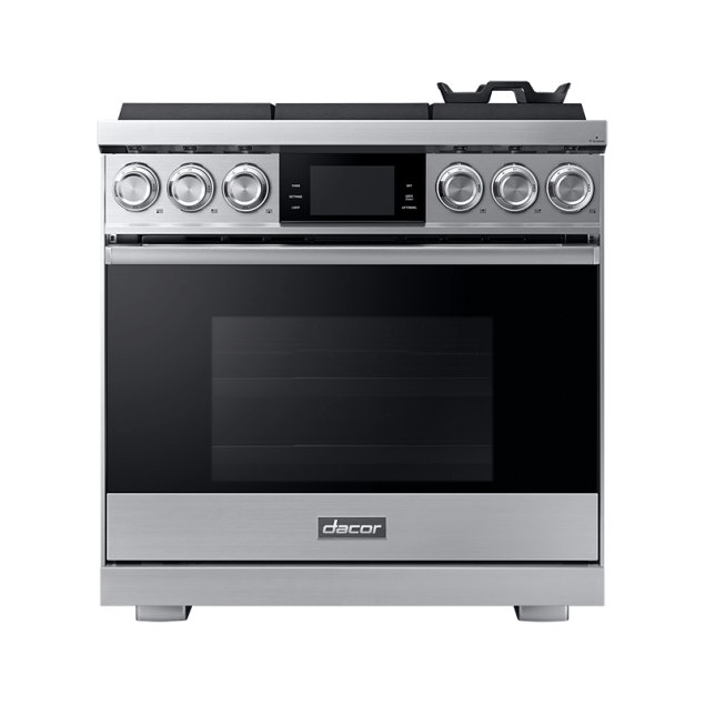 """Dacor 36"""" Pro Gas Range, Silver Stainless Steel, Natural Gas"""