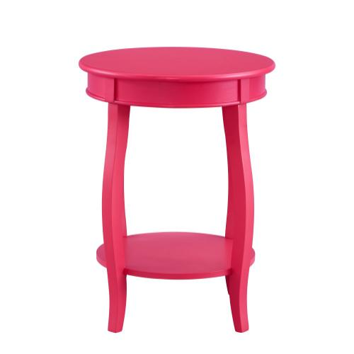 Round Lower Shelf Table, Pink