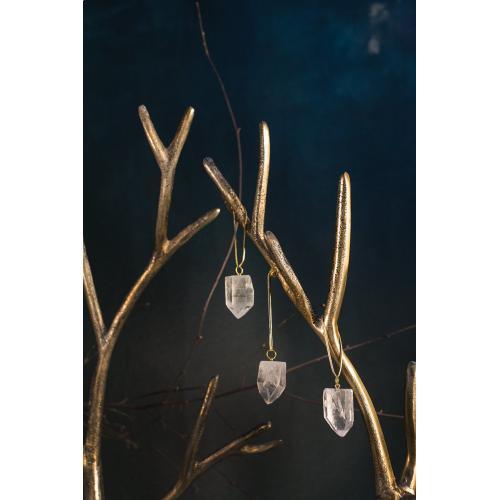 "1.5"" S/3 Clear Stone Ornaments (Quartz Option)"