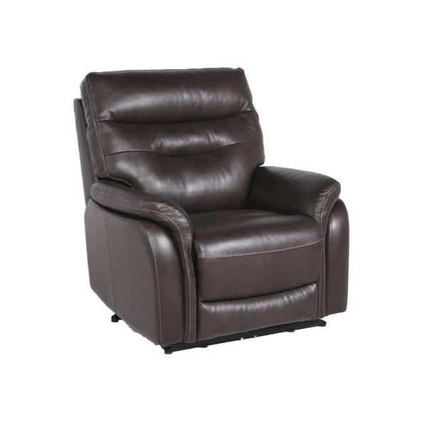 Fortuna Dual-Power Leather Recliner Chair, Coffee