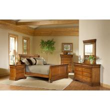 Shenandoah Sleigh Bedroom - Queen Sleigh Bed, Dresser, Mirror, Chest, and Night Stand