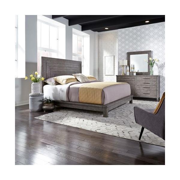 See Details - King California Platform Bed, Dresser & Mirror