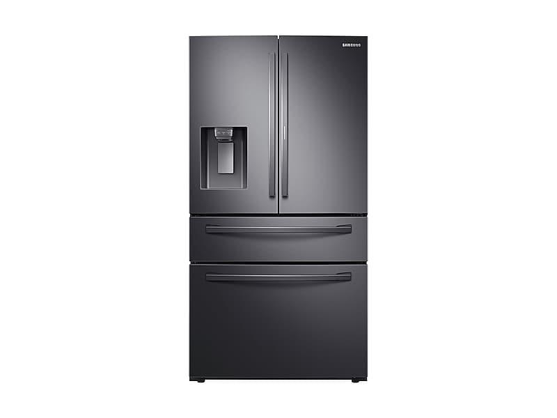 Samsung28 Cu. Ft. Food Showcase 4-Door French Door Refrigerator In Black Stainless Steel
