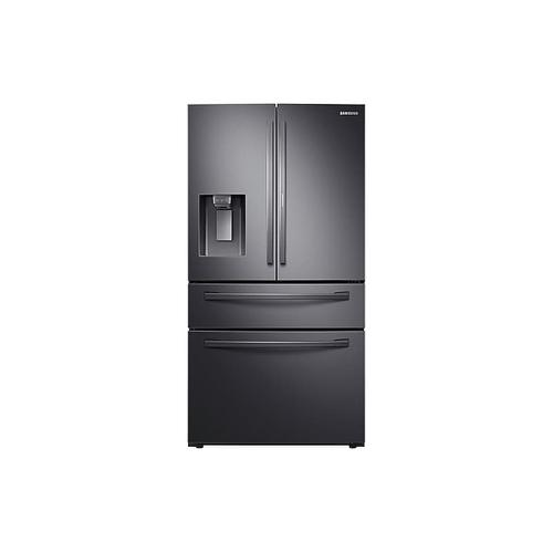 28 cu. ft. Food Showcase 4-Door French Door Refrigerator in Black Stainless Steel