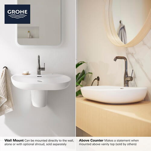 "Product Image - Essence Wall Mount 27"" Bathroom Sink, 3-hole"