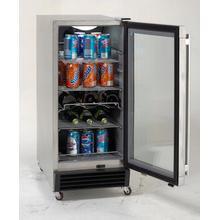 Model OBC33SSD - 3.2 CF Built-In Outdoor Refrigerator w/Glass Door