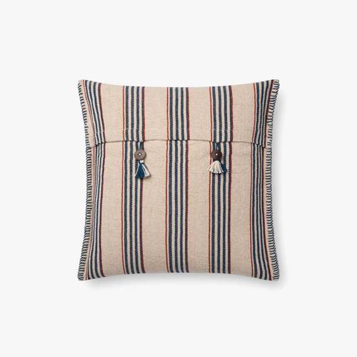 P0715 Indigo / Natural Pillow