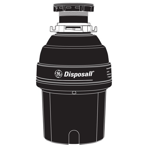 Gallery - GE® 3/4 HP Continuous Feed Garbage Disposer - Non-Corded