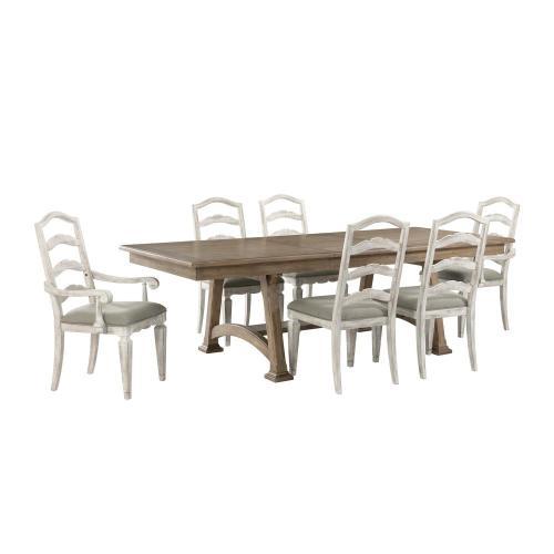 Madison - Trestle Dining Table - Caramel Finish