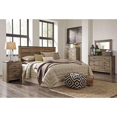 Ashley - King/california King Panel Headboard With Mirrored Dresser, Chest and 2 Nightstands