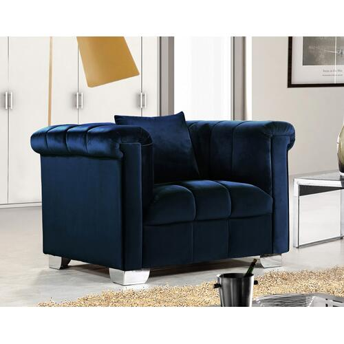 "Kayla Velvet Chair - 45.5"" W x 37"" D x 31"" H"