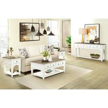 View Product - Myra - Leg Coffee Table - Natural/paperwhite Finish