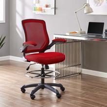 See Details - Veer Drafting Chair in Red