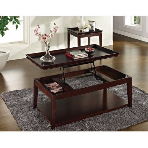 Clemson 3-Piece Lift-Top Set(Lift-Top Cocktail & 2 End Tables)