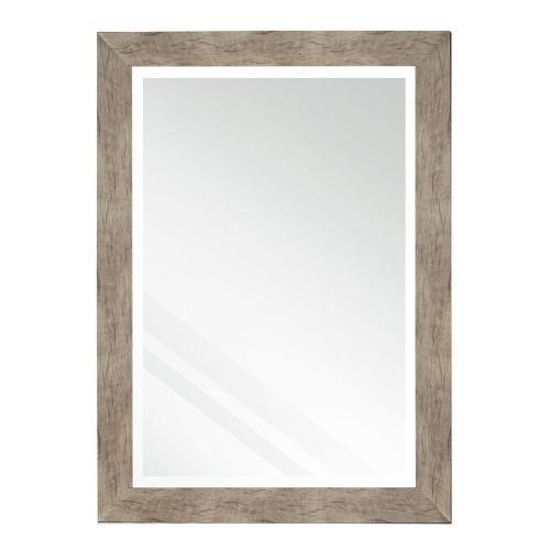 Style Craft - Rectangle mirror with barnwood finish