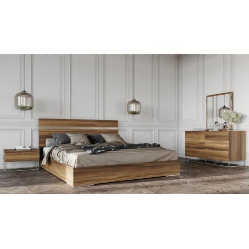 Nova Domus Lorenzo Italian Modern Light Oak Bed