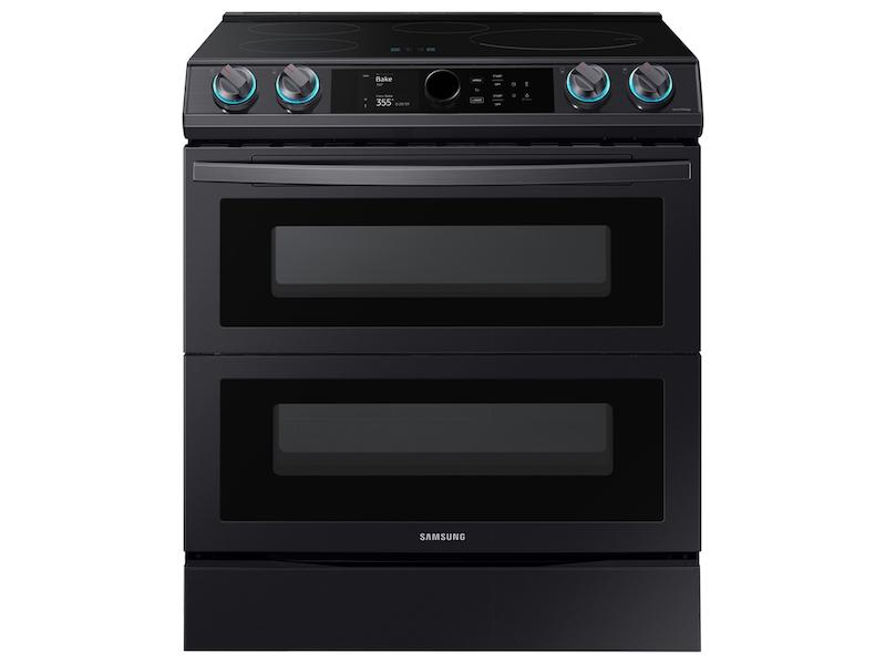 Samsung6.3 Cu. Ft. Smart Slide-In Induction Range With Flex Duo™, Smart Dial & Air Fry In Black Stainless Steel