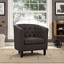 Prospect Upholstered Fabric Armchair in Brown