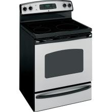 "GE® 30"" Free-Standing Electric Range (This may be a Stock Photo, actual unit (s) appearance may contain cosmetic blemishes. Please call store if you would like additional pictures). This unit carries our 6 Month warranty, MANUFACTURER WARRANTY and REBATE NOT VALID with this item. ISI 37439 B"