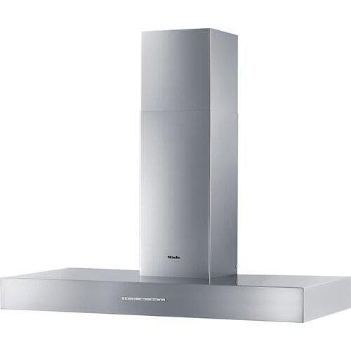DA 5428 W Puristic Arca Wall ventilation hood with energy-efficient LED lighting and backlit controls for easy use.