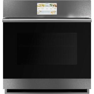 "Cafe27"" Smart Single Wall Oven with Convection in Platinum Glass"