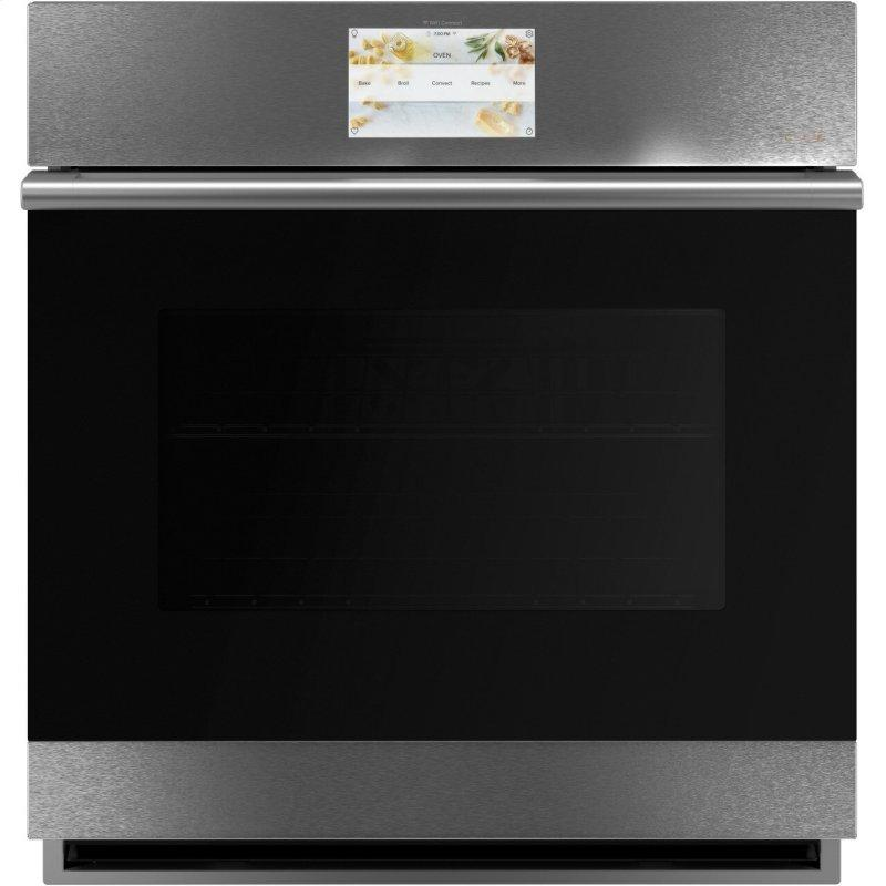 """Café™ 27"""" Smart Single Wall Oven with Convection in Platinum Glass"""