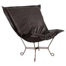 See Details - Scroll Puff Chair Avanti Black Titanium Frame