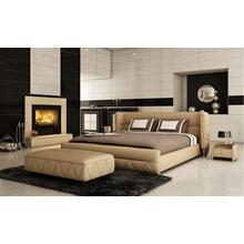 Modrest B1310 Modern Beige Bonded Leather Bed