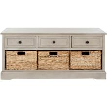 Damien 3 Drawer Storage Bench - Vintage Grey