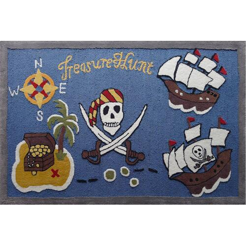 Soft Hand Carved Kids Zoomania Treasure Hunt Area Rug by Rug Factory Plus - 4' x 6'
