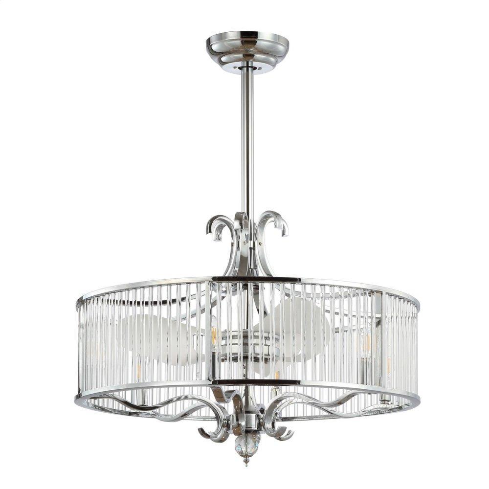 Geneve Ceiling Light Fan - Silver